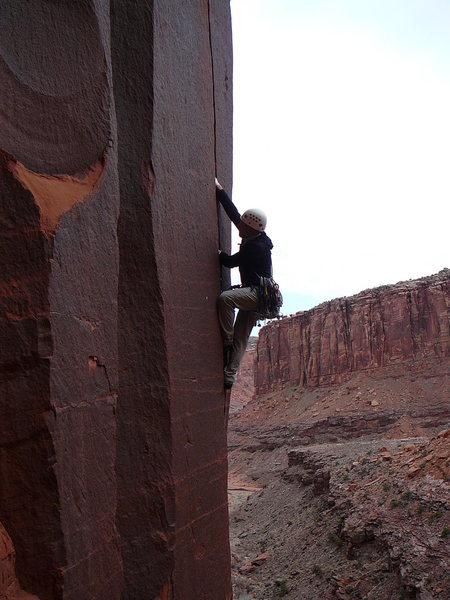 Rock Climbing Photo: Rick on Nina.