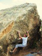 Jordan Townsend on the Godsmack Boulder V4