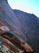 Rock Climbing Photo: Looking up @ Pitch #4. Sick Varnish!