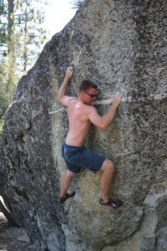 """Rock Climbing Photo: Eric on the FKA of """"Fire and Brimstone."""""""