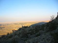 Rock Climbing Photo: Cedar Mtn. casting it's shadow over Cody, WY