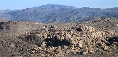 Rock Climbing Photo: Split Rocks area from Morongo Man. Photo by Blitzo...