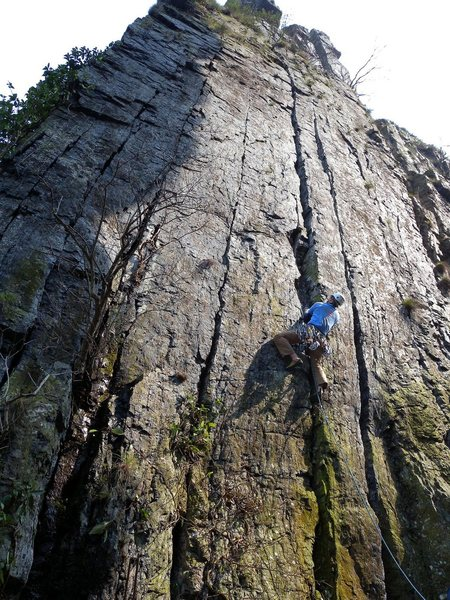 Rock Climbing Photo: 5.10c trad route at Xiao Shi Men