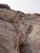 Rock Climbing Photo: decent resting ledge on Curtain Call