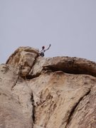 Rock Climbing Photo: Top of Final Act, good steming first 30 feet of ro...