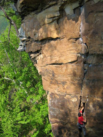 Rock Climbing Photo: Cracked Actor 5.10a