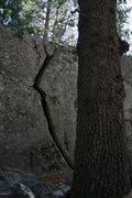 Rock Climbing Photo: Lightning crack