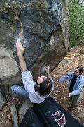 Rock Climbing Photo: james going for it!