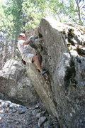 "Rock Climbing Photo: ""Trailside Dyno."""