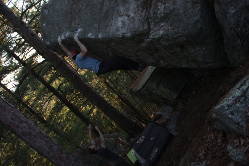 Eric being spotted by Rich at the Jesus Boulder!!!