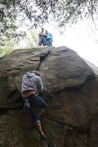 james on the big and tall boulder... whats this crack called anyway?