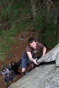 Rock Climbing Photo: jeff getting big and tall