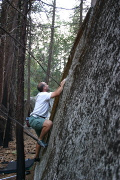 "Rock Climbing Photo: Chris on ""ice Age Mantle."""
