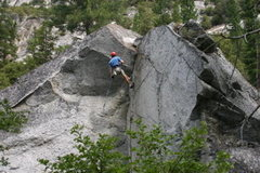 """Rock Climbing Photo: Cleaning the """"Dihedral Boulder."""""""