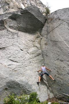 Rock Climbing Photo: Sandy working her way up.
