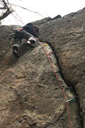 Rock Climbing Photo: me working hard on this unforgiving route