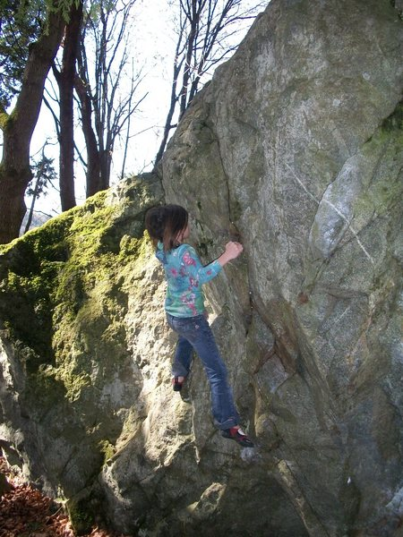 Rock Climbing Photo: Ani on.