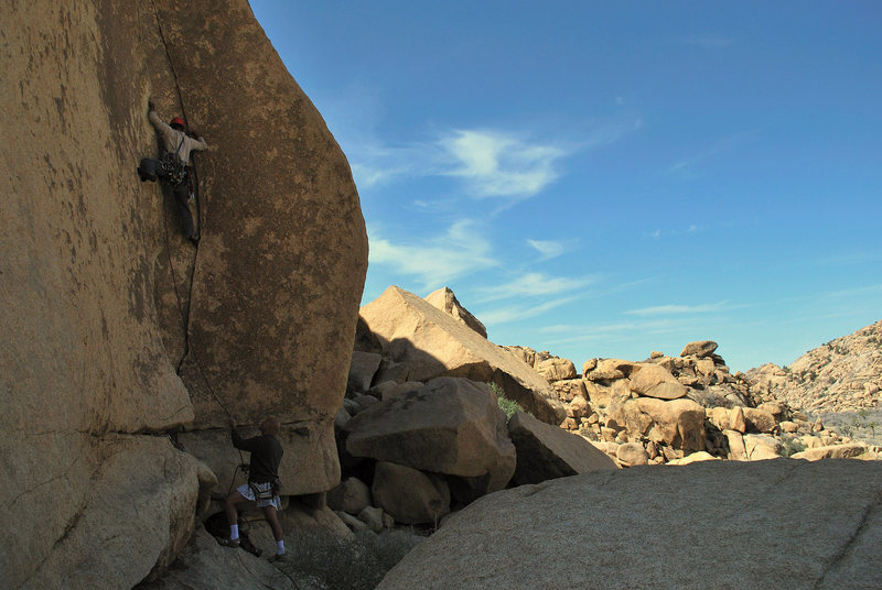 Rock Climbing Photo: Spread out on Touch and Go