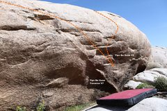Rock Climbing Photo: Tips Be Gone Right Topo