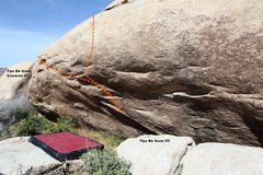 Rock Climbing Photo: Tips Be Gone Wall Topo