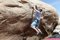 Rock Climbing Photo: Campusing the rail on Tips Be Gone Traverse, V7