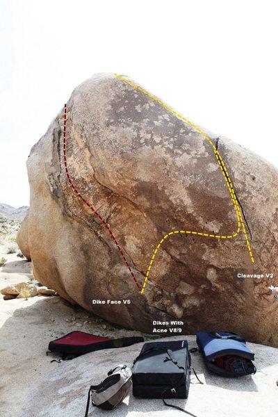 Dike Boulder Topo