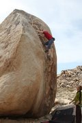 Rock Climbing Photo: The finishing moves of Dike Face, V5
