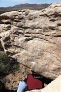 Rock Climbing Photo: Meadow Boulder South East Topo