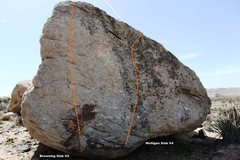 Rock Climbing Photo: Meadow Boulder North East Topo