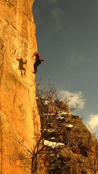 Rock Climbing Photo: The inevitable whip.