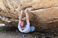 Rock Climbing Photo: Mike taking the right left route up Sloper Safari,...