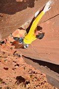 Rock Climbing Photo: Jay Brown cruxing.