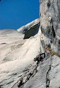 Rock Climbing Photo: Bev Johnson above Camp 6