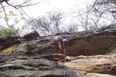Rock Climbing Photo: Pulling the roof.