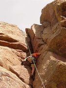Rock Climbing Photo: In the crack near the top out. Fun climb, did many...