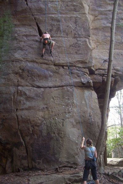 Rock Climbing Photo: TR'ing Chockstone. Fun route.