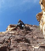 Rock Climbing Photo: Pleasant face climbing en route to the upper gully...