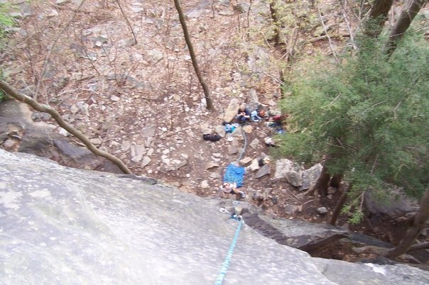 Rock Climbing Photo: Looking down from Geisha Girl (8), Sandstonia, NRG...