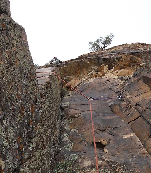 Rock Climbing Photo: Starting the route.