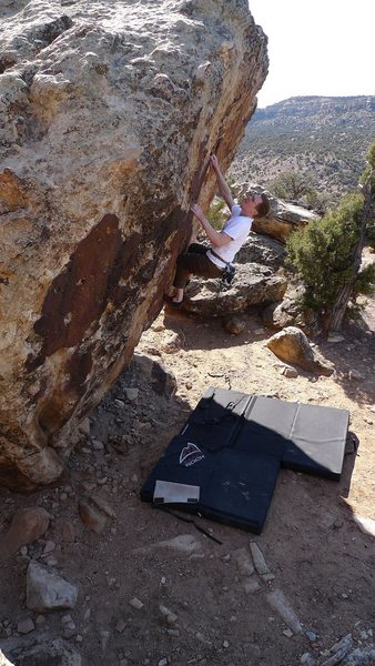 Kinky V5 at Unaweep Canyon Colorado