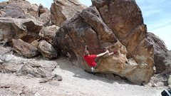 Rock Climbing Photo: razor Rock V1 at Riggs Hill Grand Junction