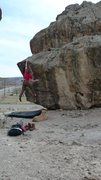 Rock Climbing Photo: This is Something Else V3 Riggs Hill, Grand Juncti...
