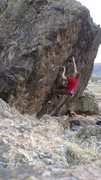 Rock Climbing Photo: Unknown V5 at Riggs Hill, Grand Junction, CO