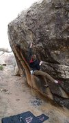 Rock Climbing Photo: Mono Pocket Rocket V5, Unaweep Canyon, CO Grand Ju...