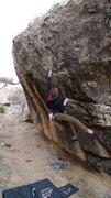 Rock Climbing Photo: Mono Pocket Rocket, V5, Unaweep Canyon, Grand Junc...