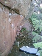 Rock Climbing Photo: Crimps on the lower part of Hobo.