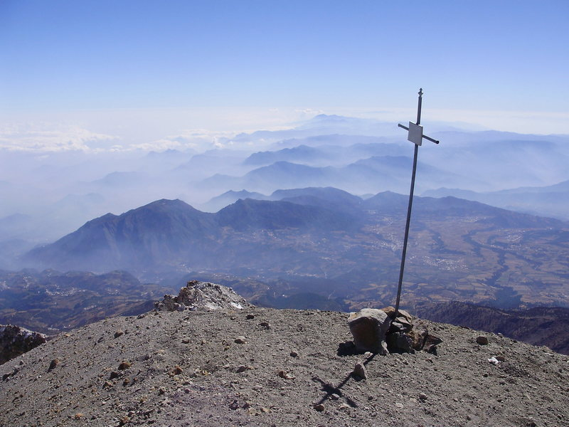 Rock Climbing Photo: Looking over Mexico from the summit or Citlaltepet...