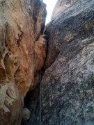 Rock Climbing Photo: Start of the shorter pitch 3.