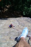 Rock Climbing Photo: An easy one -- the climb, that is.  Probably diffi...