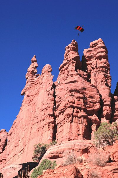 Rock Climbing Photo: I thought this guy was trying to land on one of th...